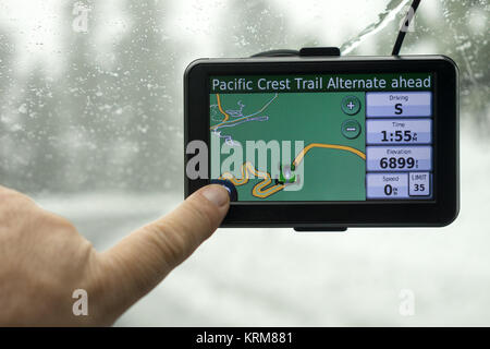 GPS Global Positioning System Car Mapping Device - Stock Photo