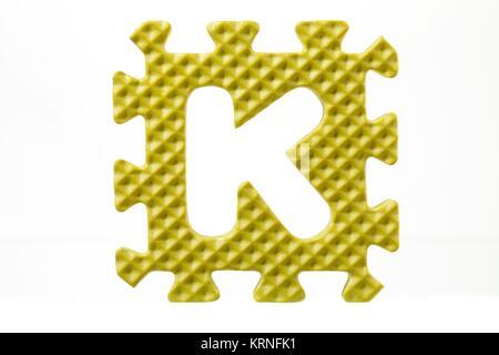 letter k foam alphabet - Stock Photo