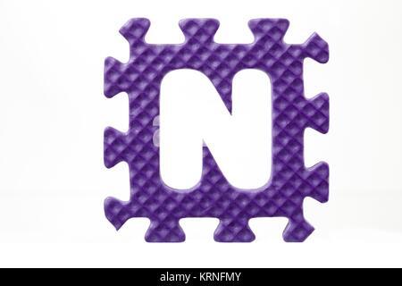 letter n foam alphabet - Stock Photo