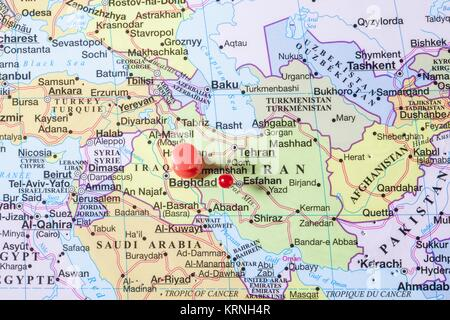 Baghdad Iraq Map Stock Photo Royalty Free Image Alamy - Baghdad map world