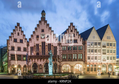 Justitia, The godness of Justice, Fountain of justice, Knockout,  Roemerberg , Frankfurt Germany - Stock Photo