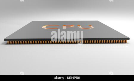 3d render Central Computer Processors CPU concept. technology background. High resolution - Stock Photo