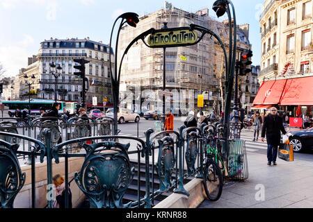 Place De Clichy Metro Station Paris France Stock Photo