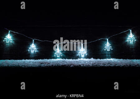 Christmas decoration lights with copy space - Stock Photo