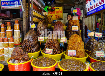 Long Xuyen, Vietnam - Sep 1, 2017. Fermented fish at local market in Long Xuyen, Vietnam. Long Xuyen is the provincial - Stock Photo