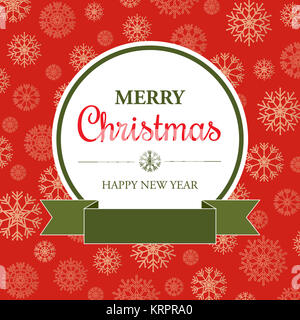 Amazing Christmas card in retro style - Stock Photo