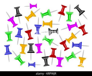 Map Knob Pins - Stock Photo