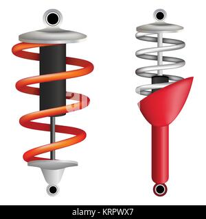Two shock absorbers on a white background. vector illustration - Stock Photo
