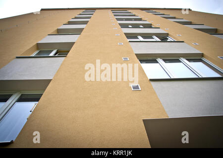 prefabricated house from the period of socialism - Stock Photo