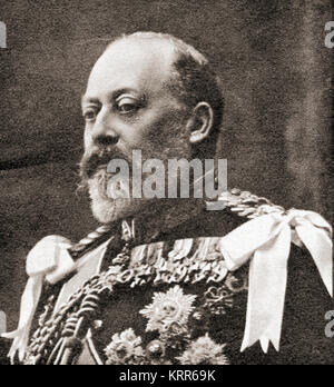Edward VII, 1841 – 1910.  King of the United Kingdom and the British Dominions and Emperor of India. From Forty - Stock Photo