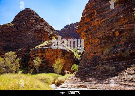 The trail to Cathedral Gorge, Bungle Bungles, Purnululu National Park, Western Australia, Australia - Stock Photo