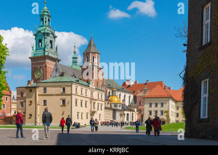 Krakow Poland Wawel, view of the Cathedral and adoining buildings within the Wawel Royal Castle complex on Wawel - Stock Photo