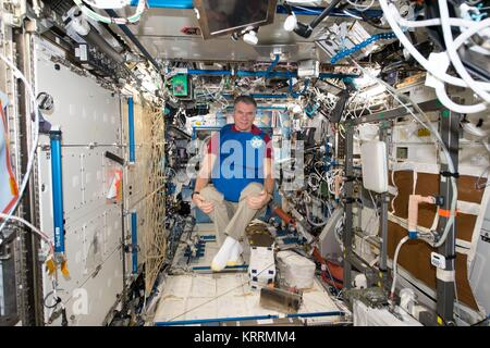 NASA International Space Station Expedition 53 prime crew member Italian astronaut Paolo Nespoli of the European - Stock Photo