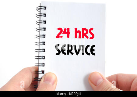 24 hrs service text concept - Stock Photo