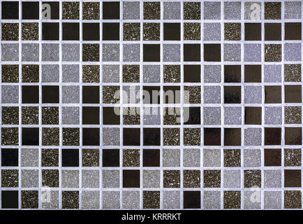 Part of the wall, lined with small mosaic tiles for use as a seamless backgrounds. - Stock Photo