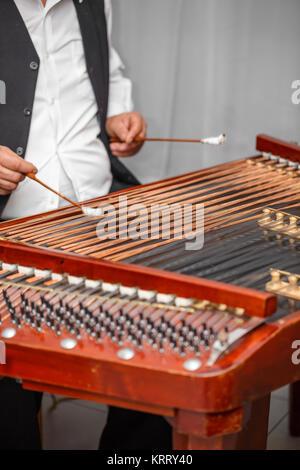 Dulcimer musical instrument - Stock Photo