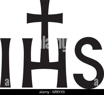 Christogram — Christian monogram of Jesus Christ, The Savior, The Lord Our God. (Ancient Medieval monogram). - Stock Photo