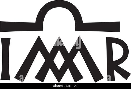Christogram - Christian monogram of The Blessed Virgin Mary, Our Lady, Mother of God, Queen of Heaven, Mediatrix - Stock Photo