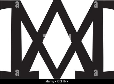 Christogram — Christian monogram of The Blessed Virgin Mary, Mother of God, Queen of Heaven, Our Lady, Madonna, - Stock Photo