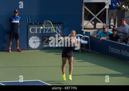 NEW YORK, NY - SEPTEMBER 02:   Dominika Cibulkova  on Day Three of the 2015 US Open at the USTA Billie Jean King - Stock Photo