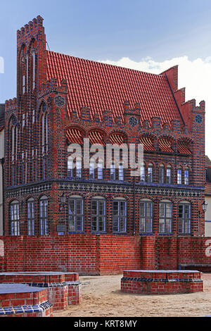 historical archidiakonat in wismar - Stock Photo