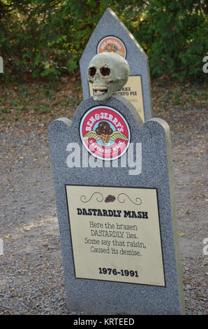 The Flavor Graveyard at Ben and Jerry's ice cream factory in Waterbury, Vermont USA - Stock Photo