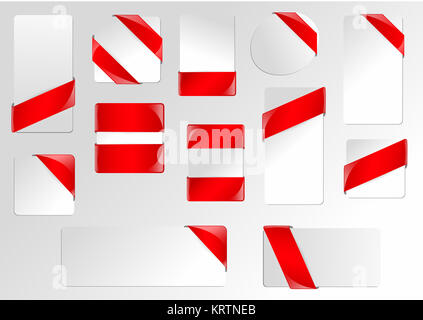 Red Ribbon Frame Business Banners - Stock Photo