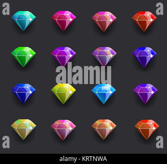 Colored diamond shiny - Stock Photo