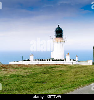 Noss Head Lighthouse near Wick in Scotland. Picture taken in may 1999. Scan from a 6x6 negativ. - Stock Photo