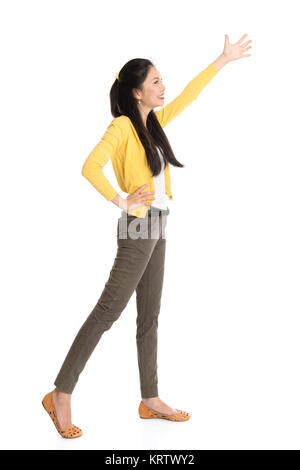 Woman grabbing something - Stock Photo