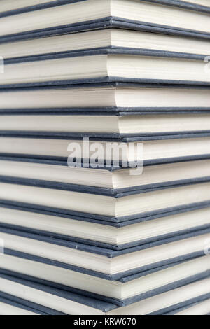 Stack of hardcover books closeup - Stock Photo
