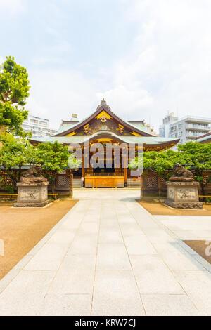 Yushima Tenman-Gu Shrine Front Entrance Centered V - Stock Photo