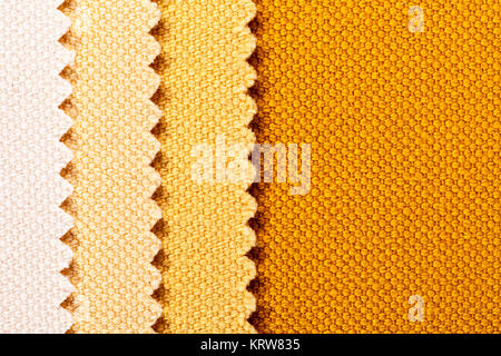 Composition of colored vertical stripes of serrated cotton fabric - Stock Photo