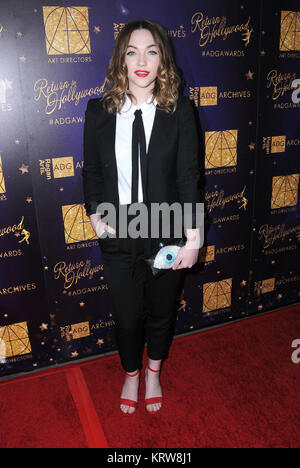HOLLYWOOD, CA - FEBRUARY 11: Actress Violett Beane attends Art Directors Guild 21st annual excellence in production - Stock Photo