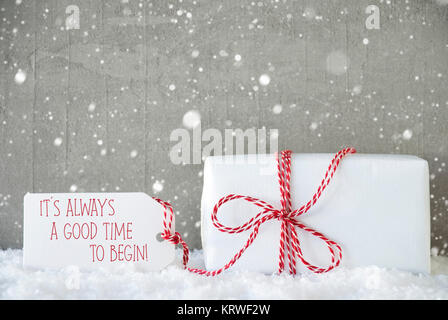 Cement Wall As Background With Snowflakes. Modern And Urban