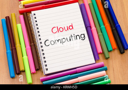 Cloud computing text concept - Stock Photo