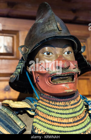 Detail of a Samurai armor on a mannequin. The armor is authentic. - Stock Photo