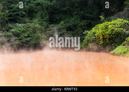 Blood pond hell in Japan - Stock Photo