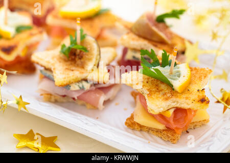 Holiday Appetizers. - Stock Photo