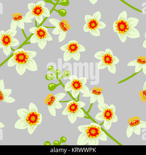 Frankincense flower seamless pattern vector. Boswellia tree flowers. - Stock Photo