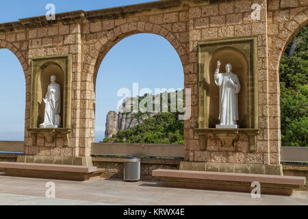 Santa Maria de Montserrat is a Benedictine abbey located on the mountain Montserrat near Barcelona, Catalonia, Spain 15 July 2010
