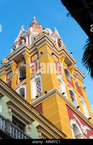 Colorful Cathedral in Cartagena - Stock Photo