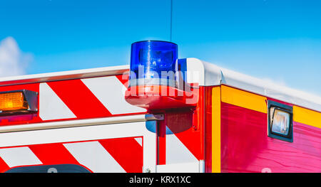 blue flashing light - Stock Photo