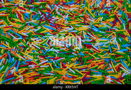 Colorful candy sprinkles heap - Stock Photo