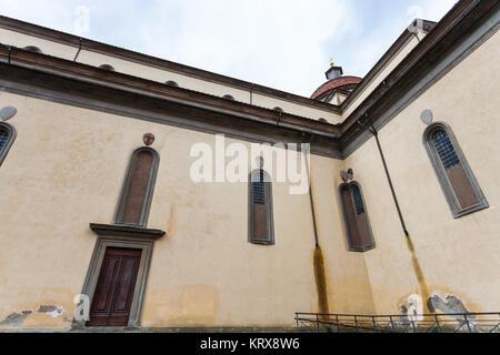 walls of Basilica di Santo Spirito in Florence - Stock Photo