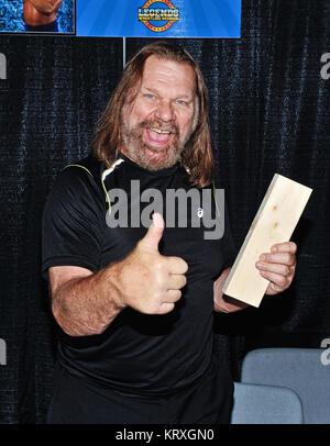Hamilton, ON, USA. 1st Oct, 2017. 01 October 2017 - Hamilton, Ontario, Canada. WWE Hall of Fame wrestler ''Hacksaw'' - Stock Photo