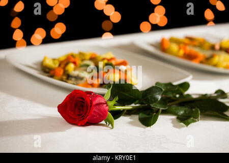 A rose to celebrate an event - Stock Photo