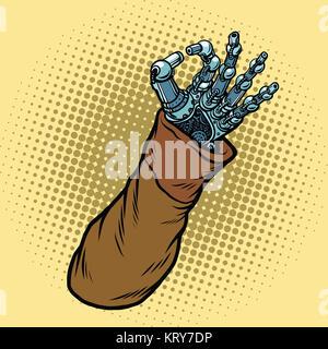 Okay hand gesture robot - Stock Photo