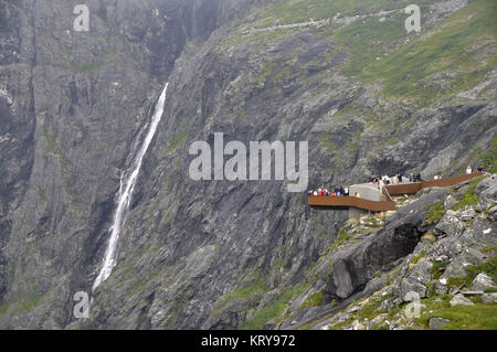 view of the trollstigen one of the most famous roads of the world 11km - Stock Photo