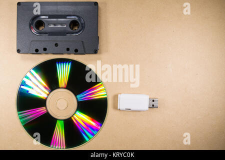 Concept of music evolution - Stock Photo